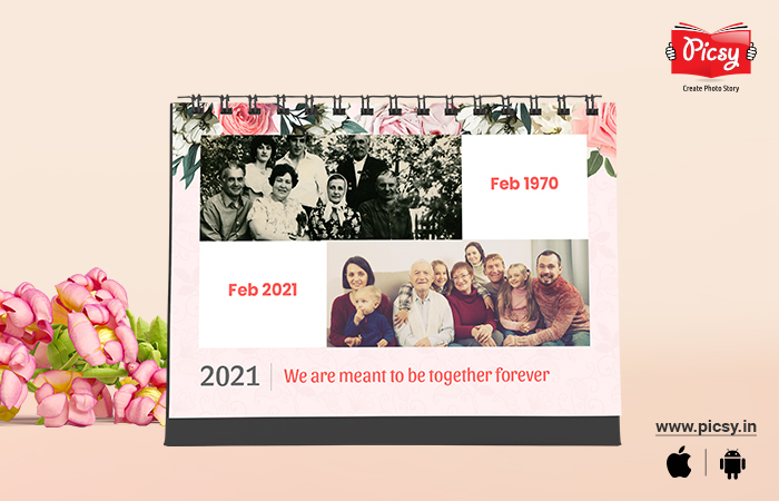 Then and Now family Photo Calendar