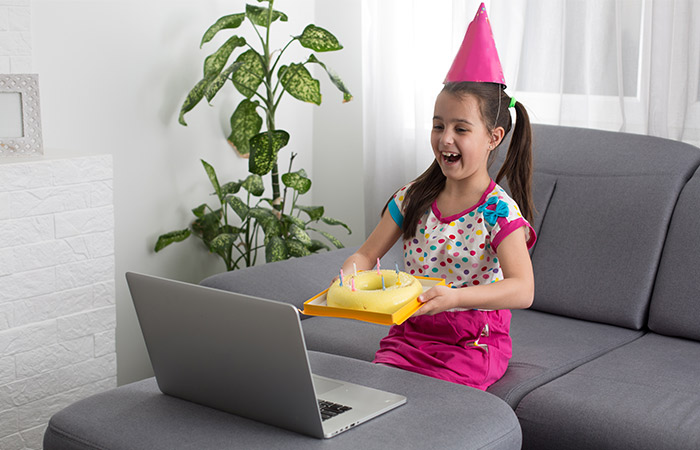 Host a virtual birthday party
