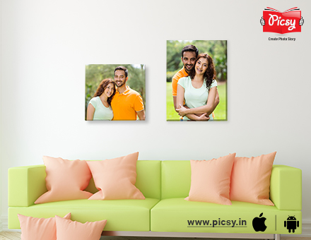 Creating couple canvas prints for beautiful bedroom decor