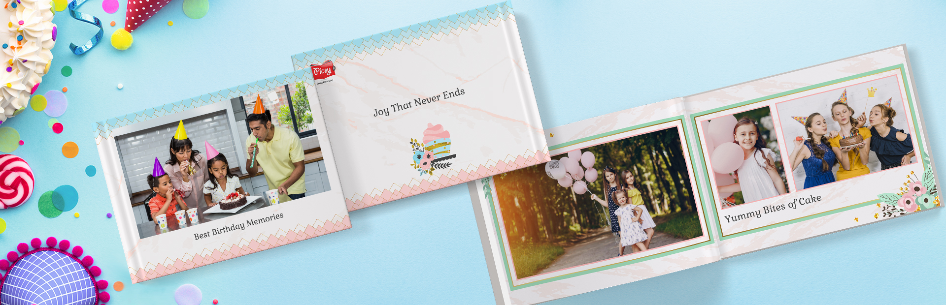 Birthday Photo Book Printing - Picsy