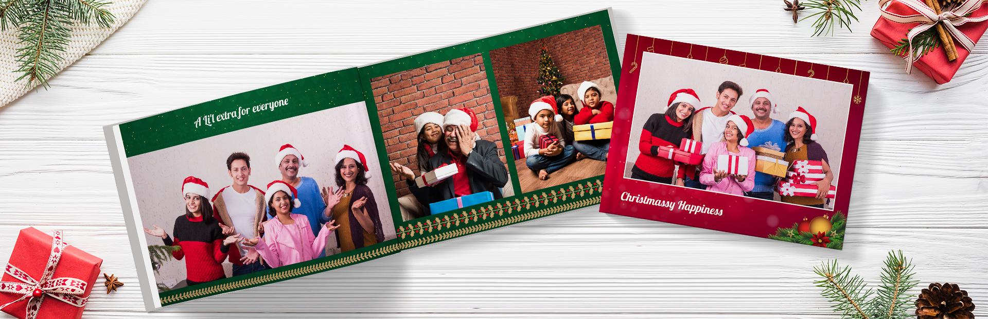 Merry Christmas Custom Photo Books