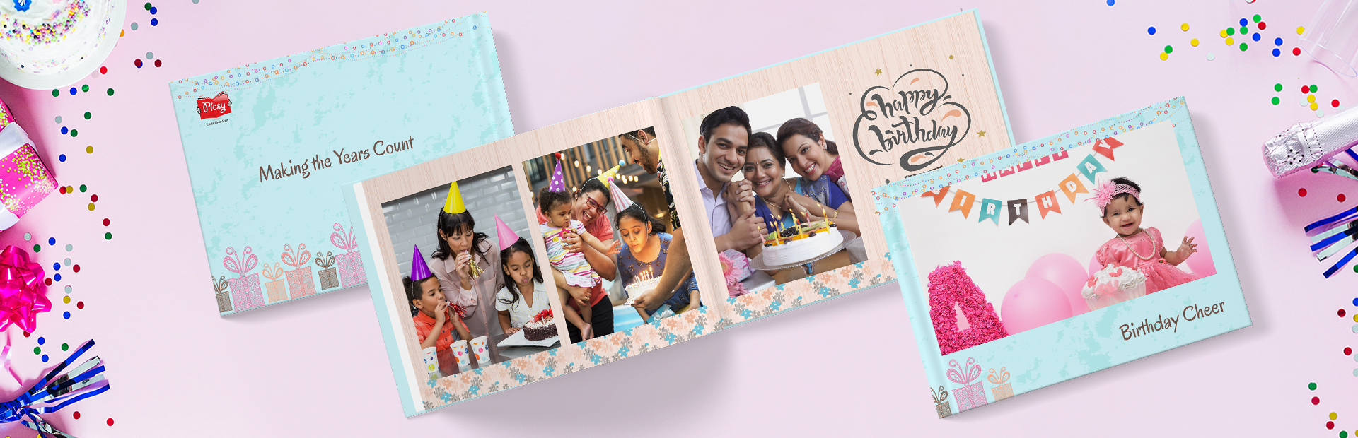 Smiley Birthday Custom Photo Books