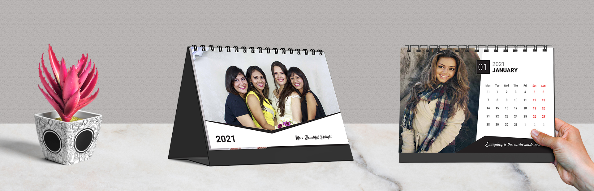 Classic Monochrome Photo Calendars Online