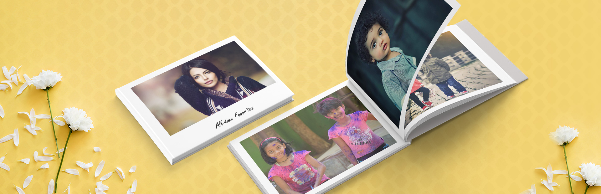 New Age White Personalized Photo Books Online