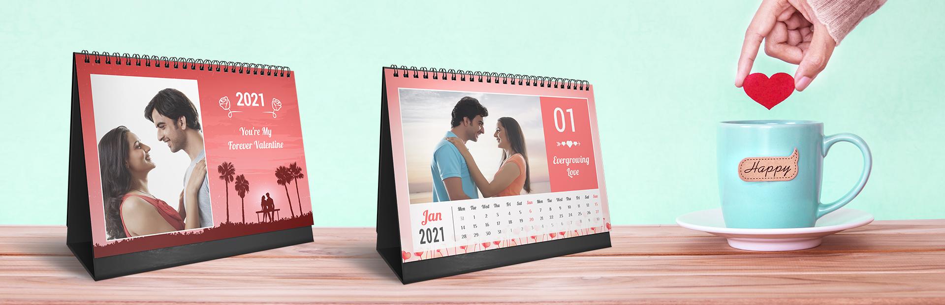 Velvety Valentine Photo Calendars Online
