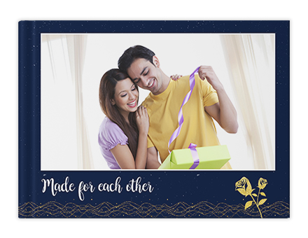 Anniversary Gild Personalized Photo Albums