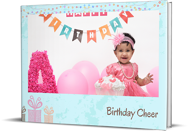 Smiley Birthday Photo Book Printing