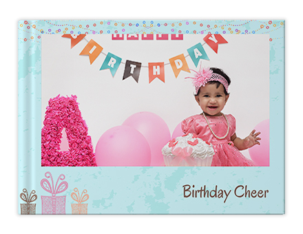 Smiley Birthday Photo Book Printing