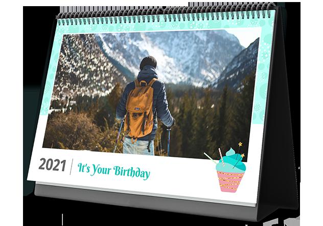 Birthday Star Personalized Photo Calendars