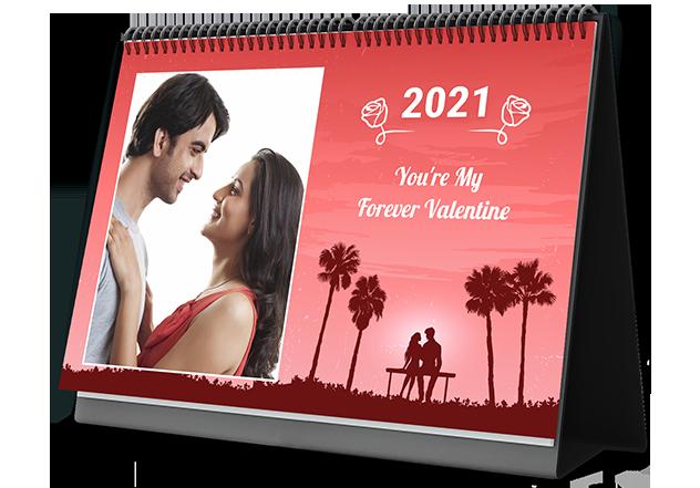 Velvety Valentine Personalized Photo Calendars