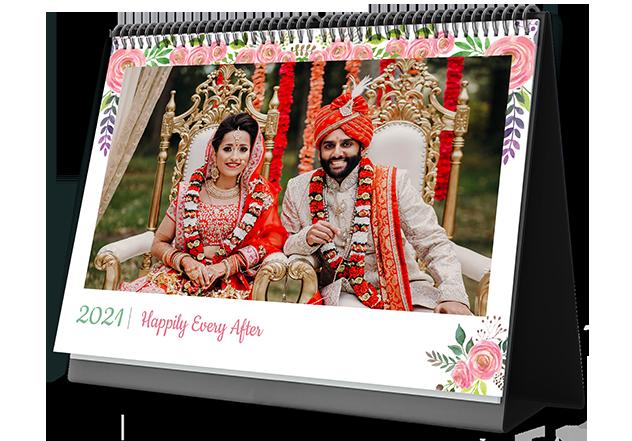 Wondrous Wedding Personalized Photo Calendars