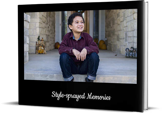 New Age Black Personalized Photo Albums